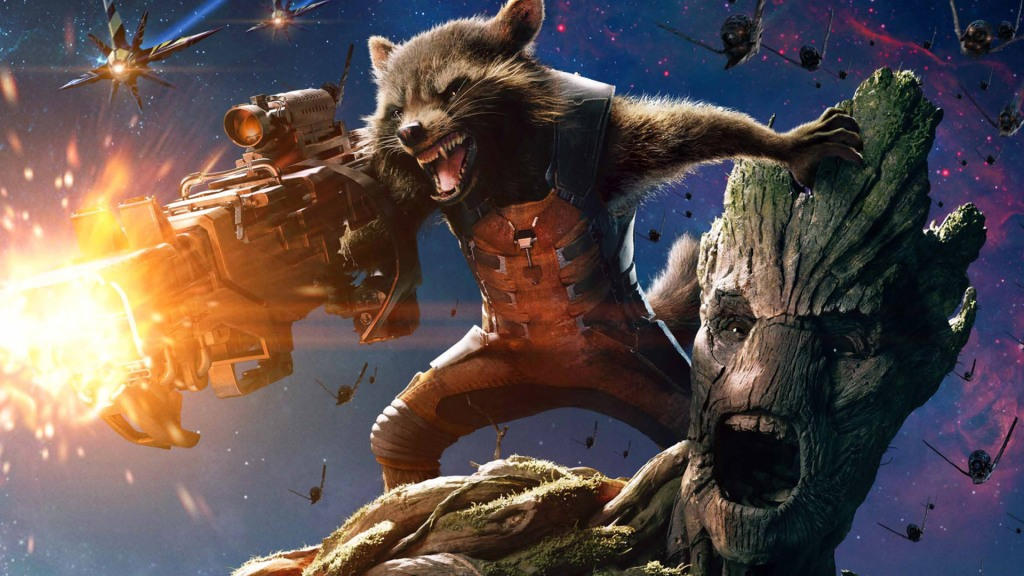 Okay, so look, my whole life, all I ever wanted was a movie in which a violent space-raccoon shoots a giant space gun from the shoulder of a space-Tree-man. Turns out that's what everyone else wanted too.